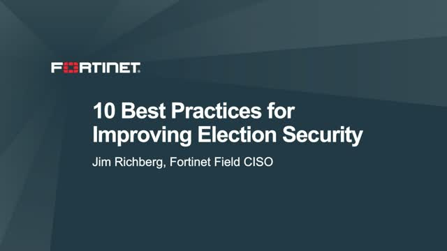 10 Best Practices for Improving Election Security