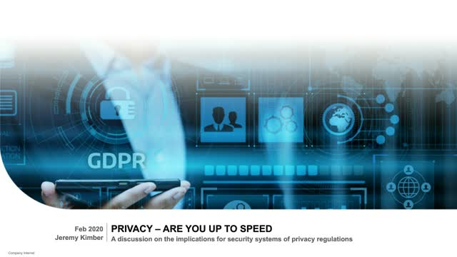 Privacy - Are you up to Speed?