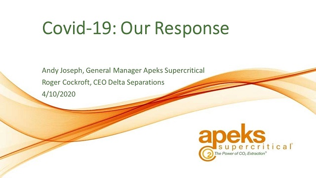 RESCHEDULED: Our Response to Covid-19