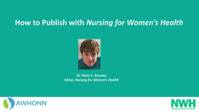 How to publish with Nursing for Women's Health