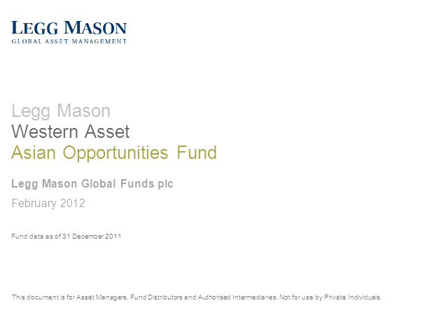 Legg Mason Western Asset Asian Opportunities Fund