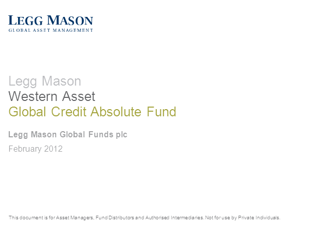 Legg Mason Western Asset Global Credit Absolute Return Fund