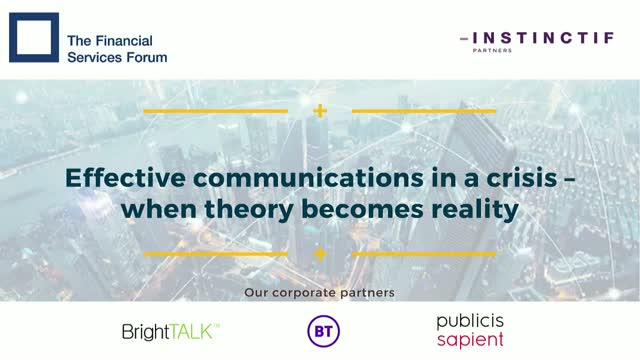 Effective communications in a crisis – when theory becomes reality