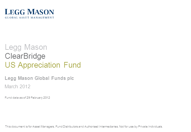 Legg Mason ClearBridge US Appreciation Fund