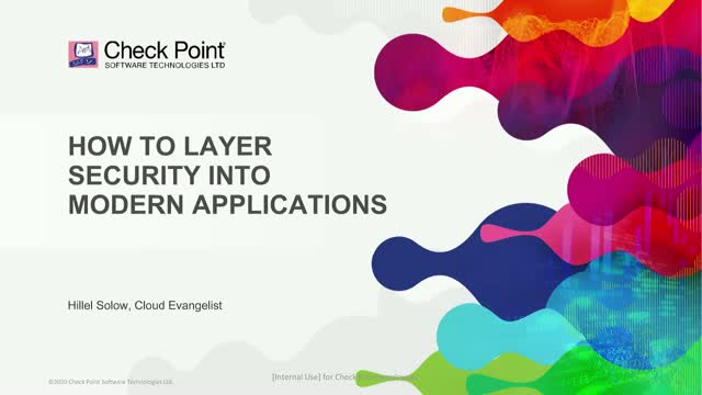 How to Layer Security into Modern Cloud Applications.