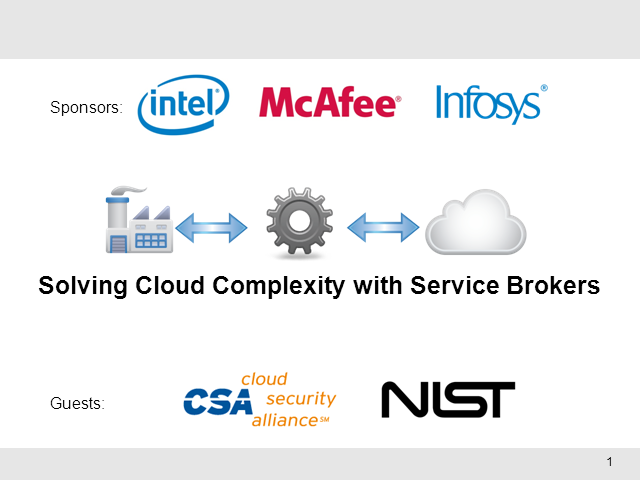 Solving Cloud Complexity with Service Brokers