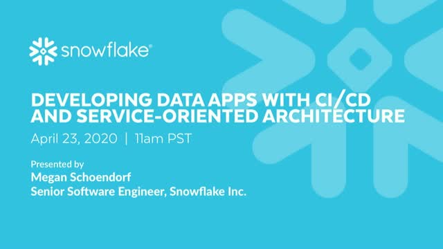 Developing Data Apps with CI/CD and Service-Oriented Architecture