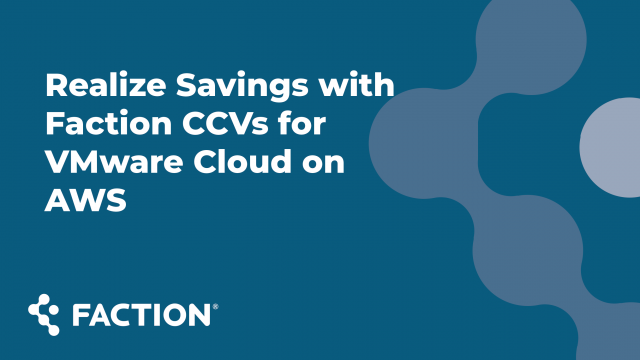 Realize Savings with Faction Cloud Control Volumes
