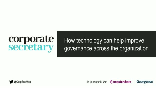 Corporate Secretary Webinar – How technology can help improve governance