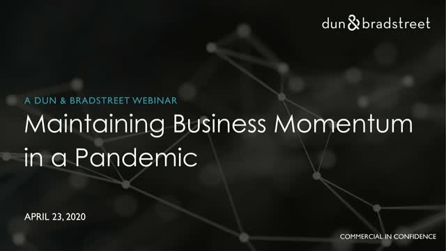 Maintaining Business Momentum in a Pandemic