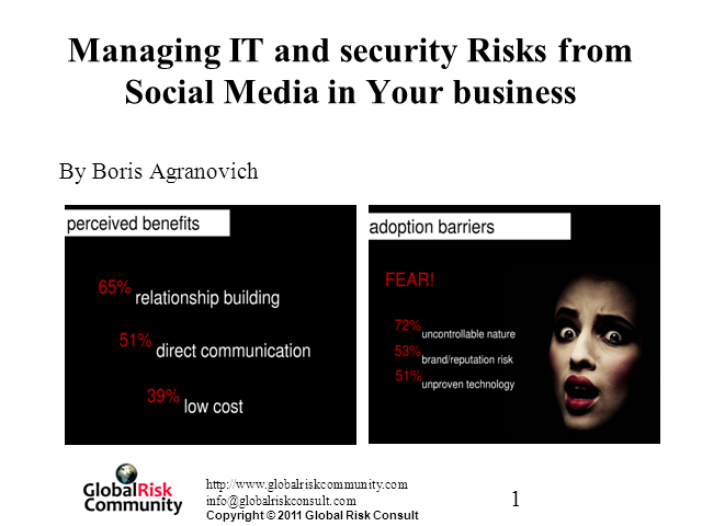 Managing IT and Security Risks from Social Media in Your Business