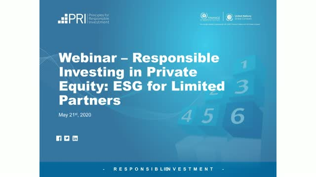 Responsible Investing in Private Equity: ESG Integration for LPs