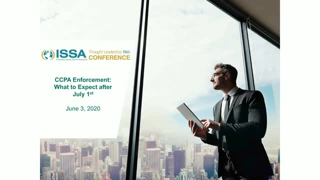 ISSA Thought Leadership Series: CCPA Enforcement: What to Expect after July 1st