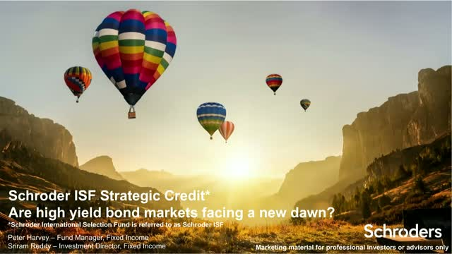 Strategic Credit - are high yield bond markets facing a new dawn?