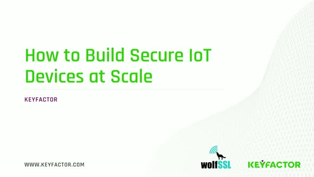 How to Build Secure IoT Devices at Scale
