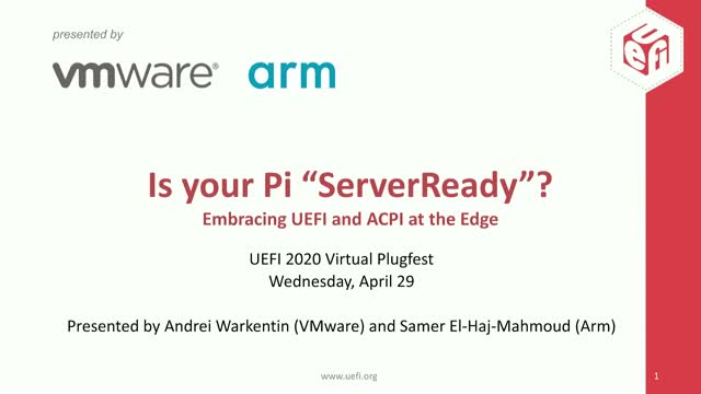 "Is your Pi ""ServerReady""? Embracing UEFI and ACPI at the Edge"