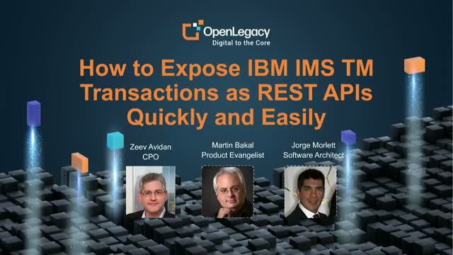 How to expose IBM IMS TM transactions as REST APIs quickly and easily