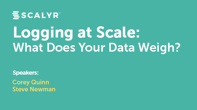 Logging at Scale: What Does Your Data Weigh?
