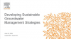 Developing Sustainable Groundwater Management Strategies