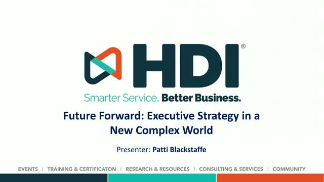 Future Forward: Executive Strategy in a New Complex World