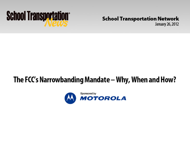 2013 FCC Narrowbanding Requirement