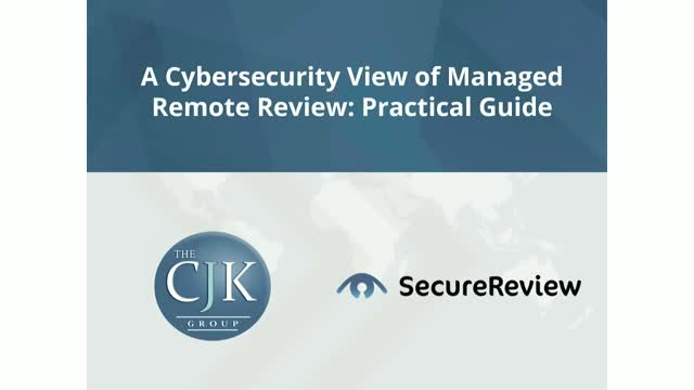 A Cybersecurity View of Managed Review: Practical Guide