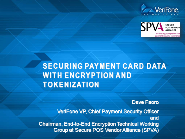 Securing Payment Card Data with Encryption and Tokenization