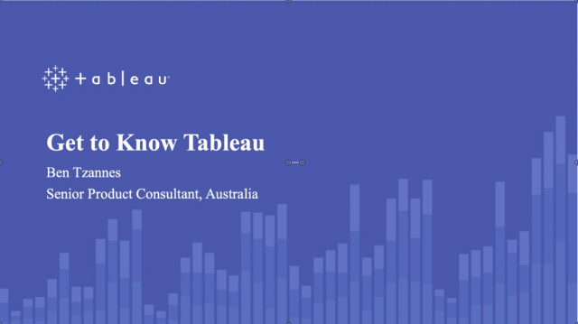 Get to Know Tableau
