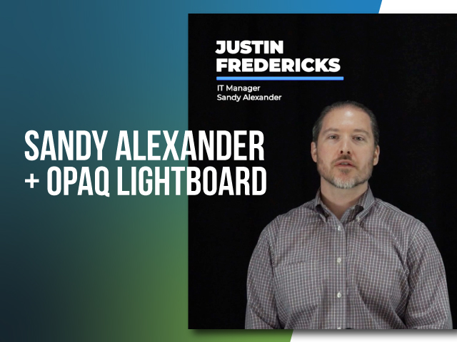 How Sandy Alexander Modernized Networking & Security