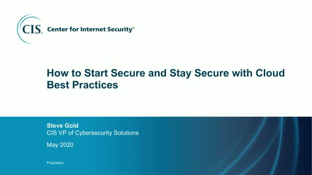 How to Start Secure and Stay Secure with Cloud Best Practices