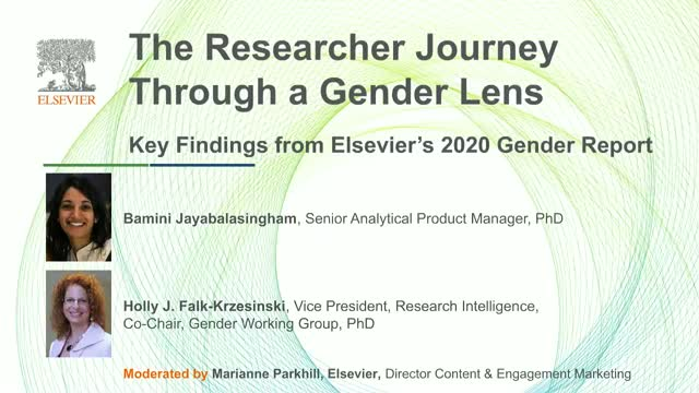 The Researcher Journey Through a Gender Lens: Findings from Elsevier's Report