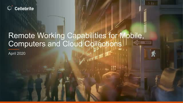 Remote Working Capabilities for Mobile, Computer and Cloud Collections