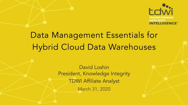 Data Management Essentials for Hybrid Cloud Data Warehouses