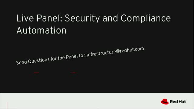 Live Panel: Security and Compliance Automation