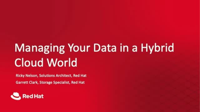 Managing Your Data in a Hybrid Cloud World