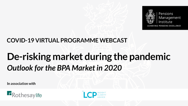 De-risking market during the pandemic. Outlook for the BPA market in 2020