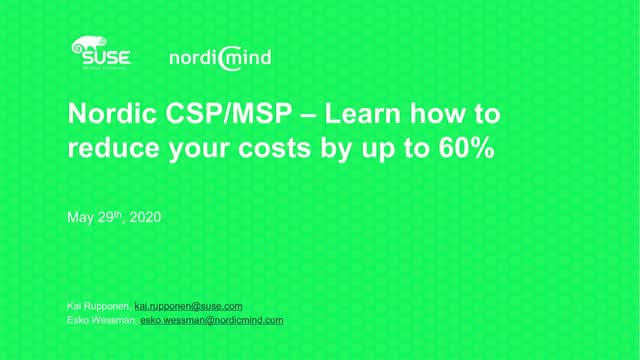 Are you a Nordic CSP/MSP? Learn how to reduce your costs by up to 60%