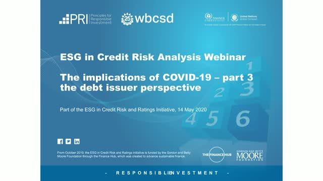 ESG in credit risk analysis: the implications of COVID-19 – part three