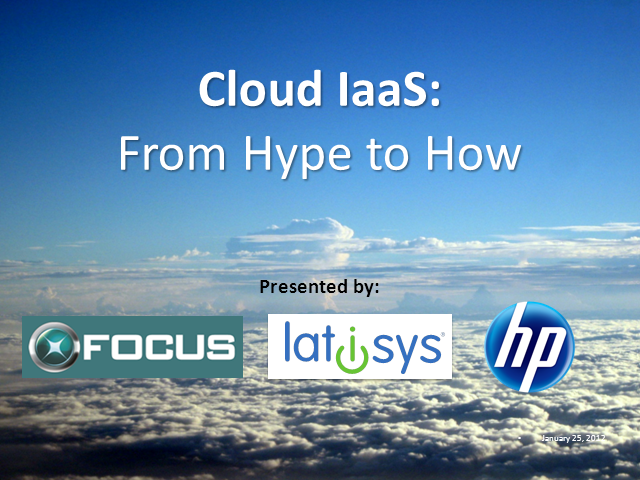 "Cloud IaaS: From ""Hype"" to ""How"""