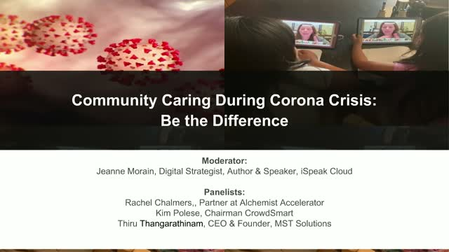 Community Caring through the Corona Crisis: Be the Difference