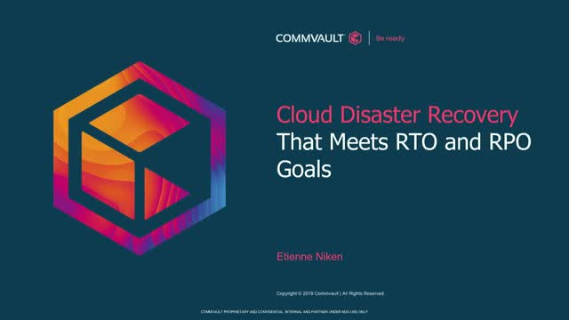 Cloud Disaster Recovery That Meets RTO and RPO Goals