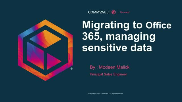 Migrating to Office 365, managing sensitive data