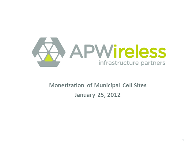 Monetization of Municipal Wireless Cell Sites