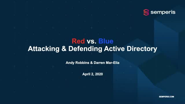 Attacking and Defending AD Workshop