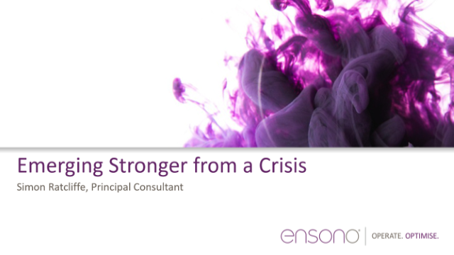 Emerging Stronger from a Crisis