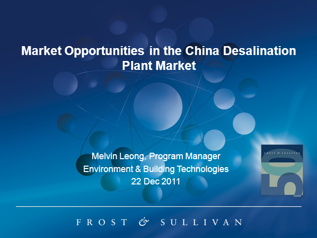 Market Opportunities in the China Desalination Plant Market
