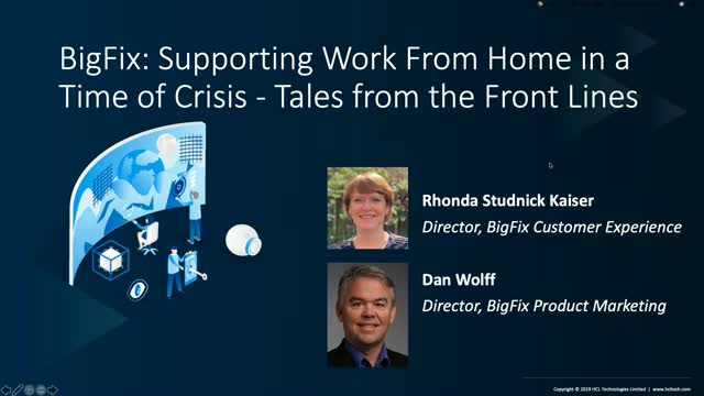 Supporting Work From Home in a Time of Crisis - Tales from the Front Line