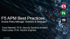 BIG-IP Access Policy Manager Best Practices