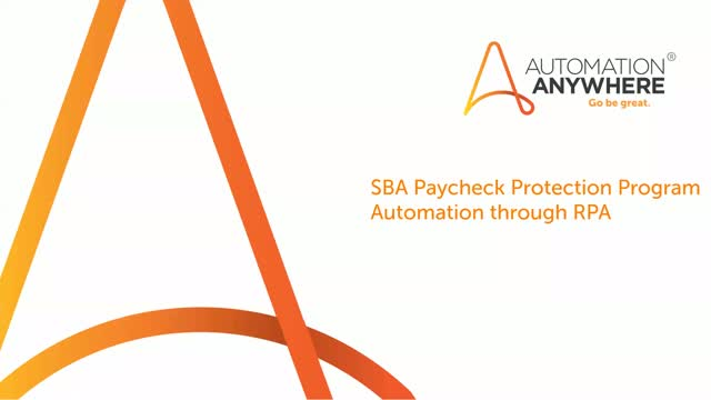 Automate to accelerate SBA PPP processing and other loan applications