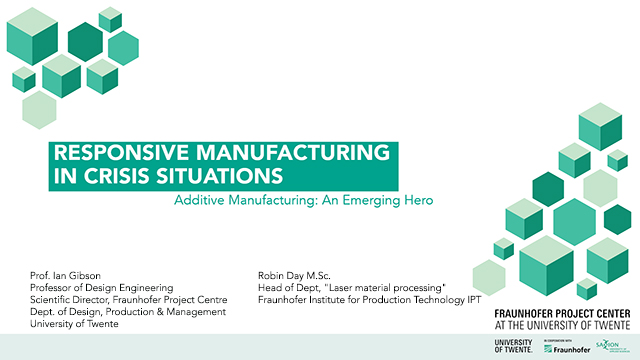 Responsive manufacturing in crisis situations
